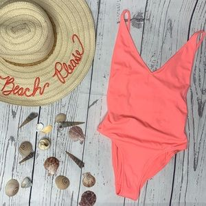 NWT Topshop one piece coral swimsuit